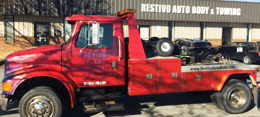 Restivo Auto Body Tow Truck Eldersburg Maryland